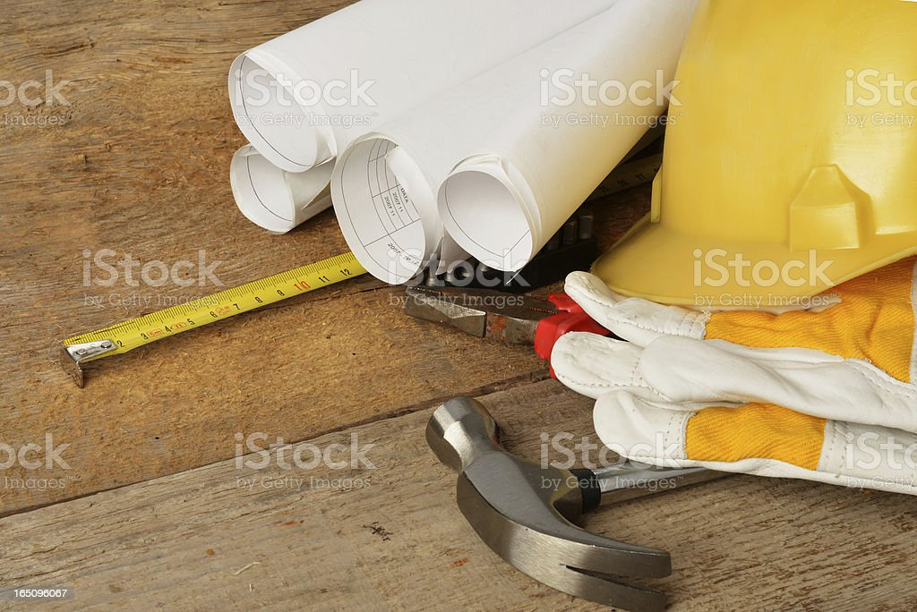 drawings and gloves royalty-free stock photo