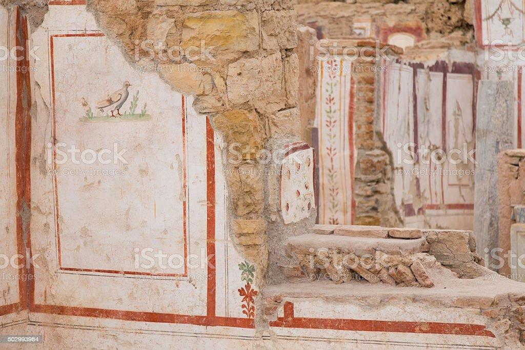 Dibujos En La Terraza De Casas éfeso Antiguo De La Ciudad