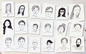 istock drawings of faces on white 1185859872