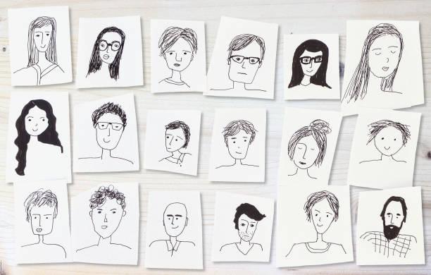 白色面的圖紙 - 中等人數群 個照片及圖片檔