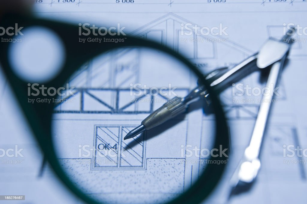 Drawings of houses royalty-free stock photo