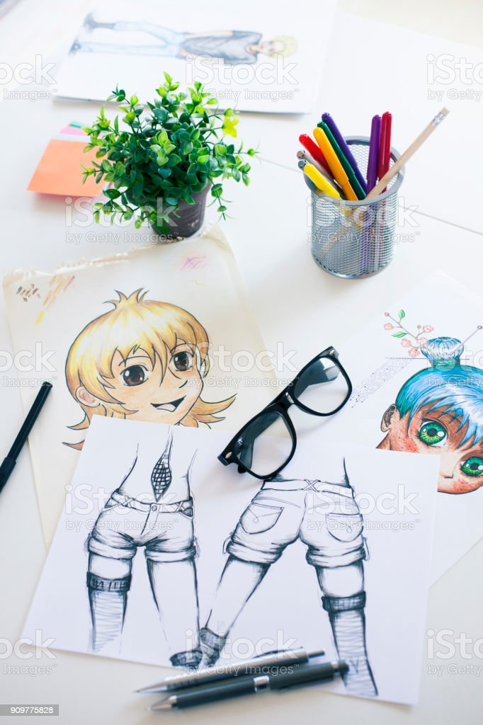 Drawings stock photo