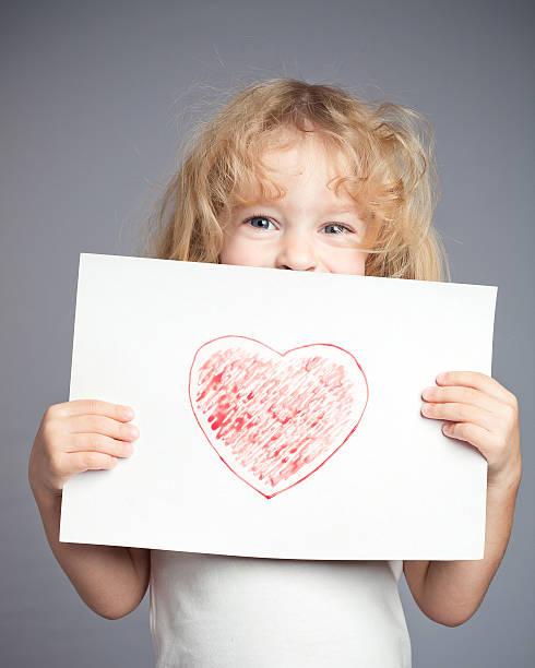 Coração desenhada - foto de acervo