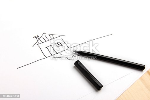 istock Drawn house 464669923