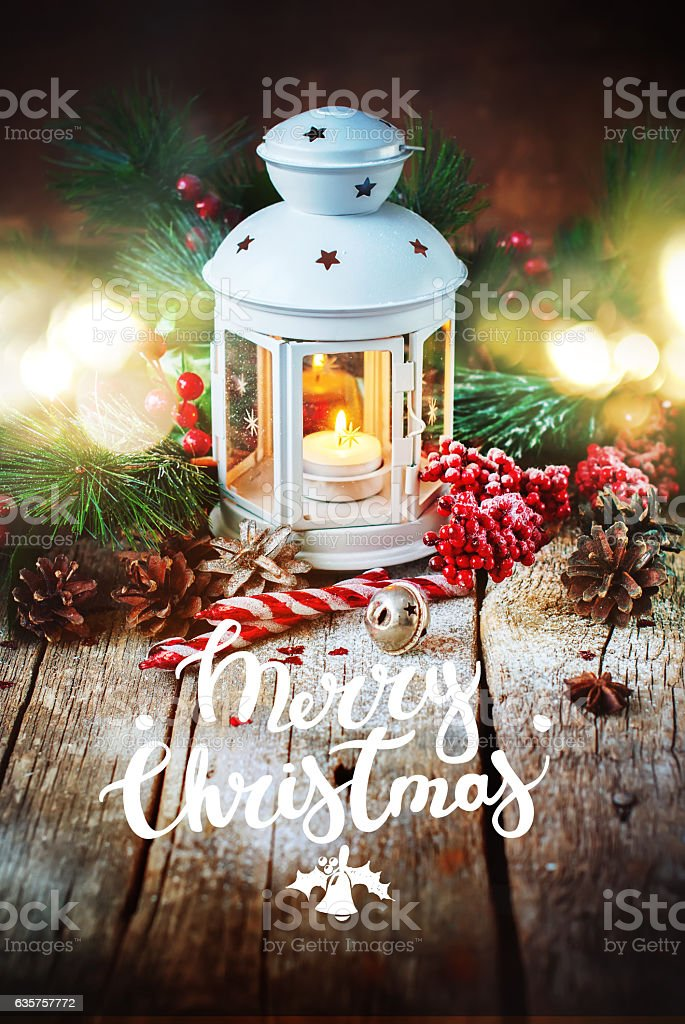 Drawn Snow Holiday Christmas Gifts Red Ball stock photo