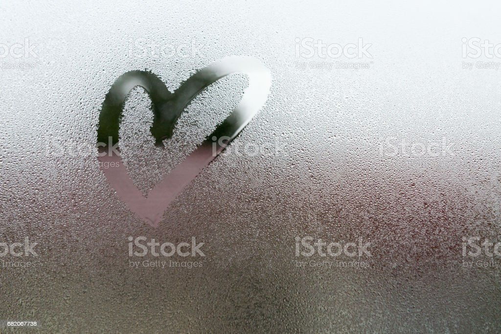 Drawn the heart shape stock photo