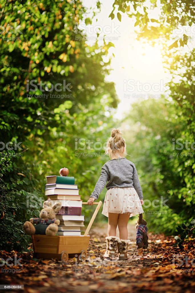 Drawn towards her natural  surroundings stock photo