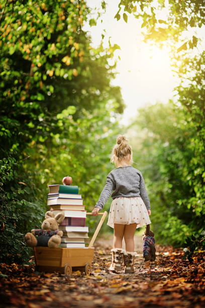 Drawn towards her natural  surroundings stock photo