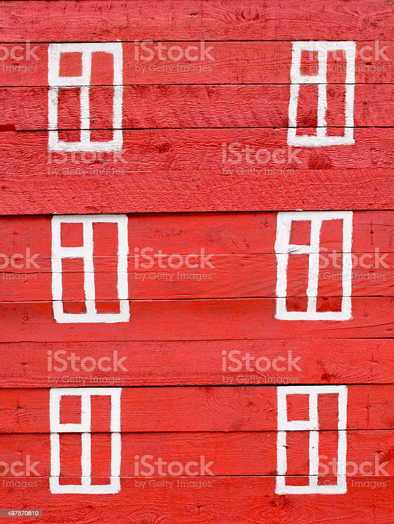 drawn window on wooden wall stock photo