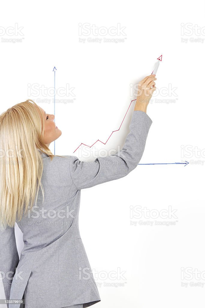 draws a graph royalty-free stock photo