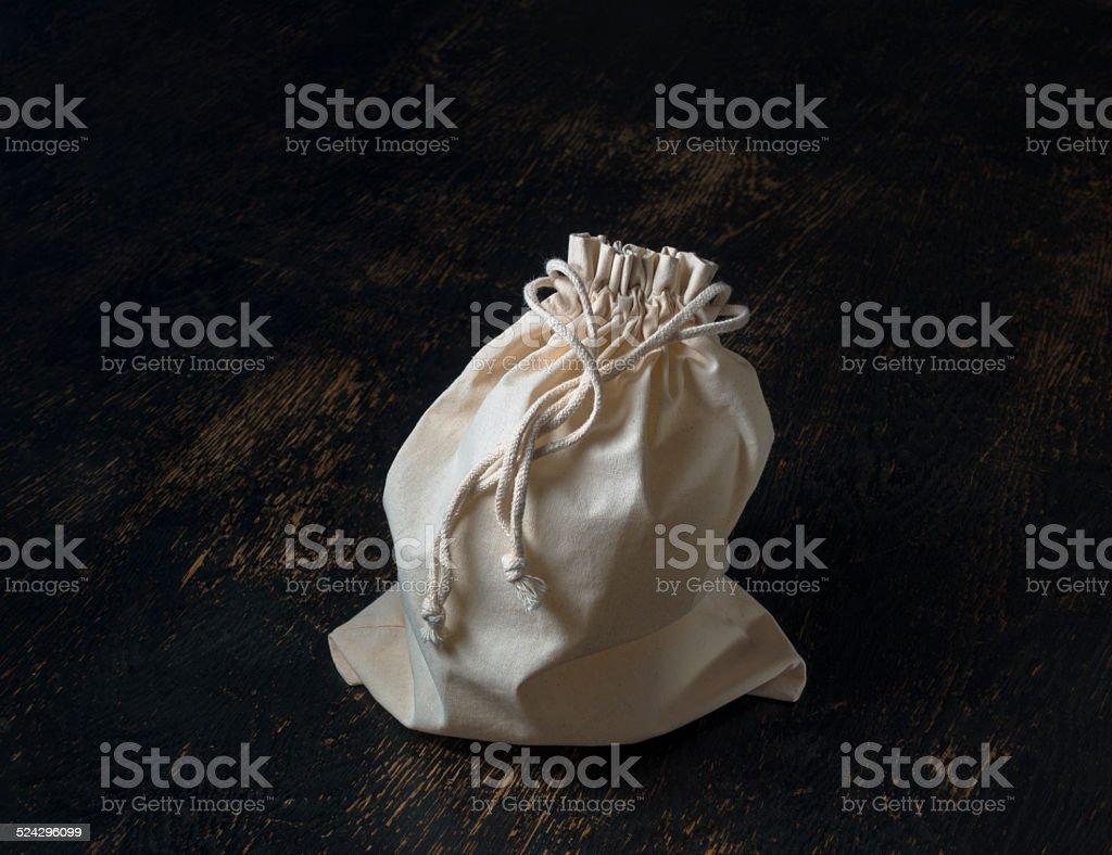 drawstring bag stock photo