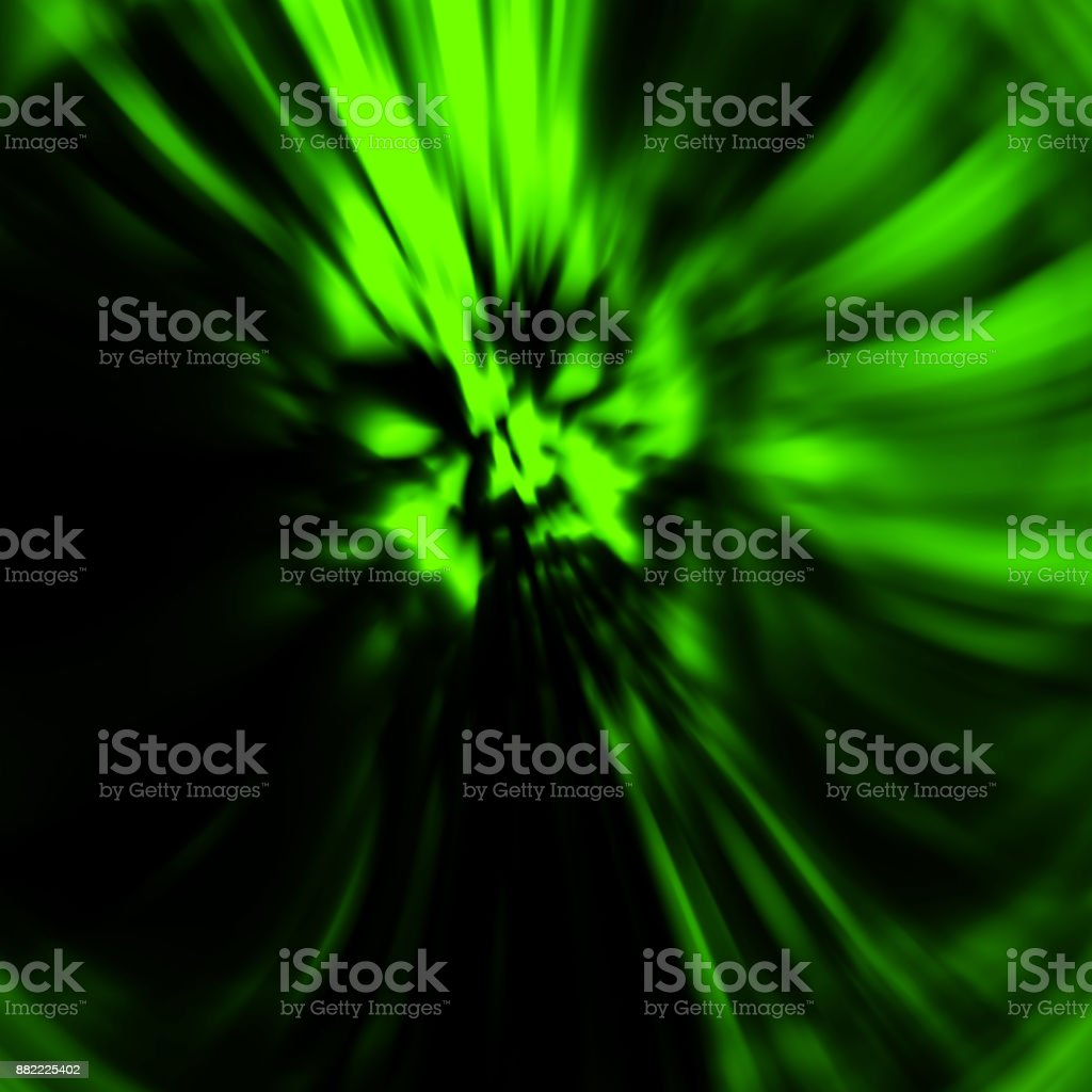 Dreadful head of zombie girl. Illustration in genre of horror. Green color. stock photo