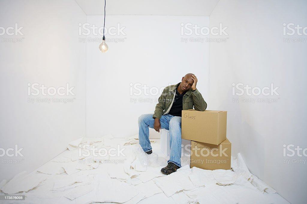 Dreading moving day royalty-free stock photo