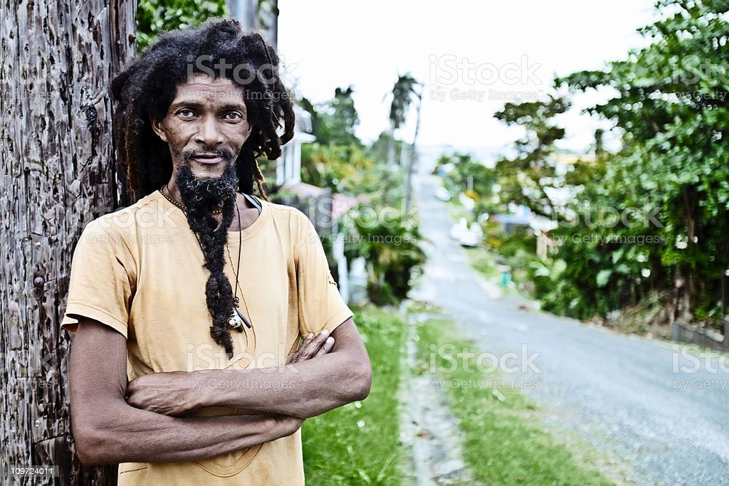 dreadlock portrait stock photo