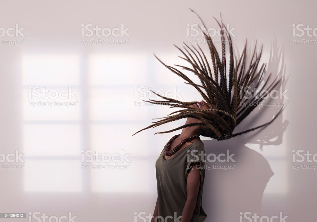 Dreadlocks arc. stock photo
