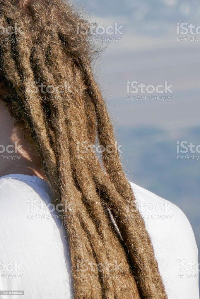 dreadlocks saç modeli bir adam. Saç dreadlocks reggae stile - Royalty-free Afro Stok görsel