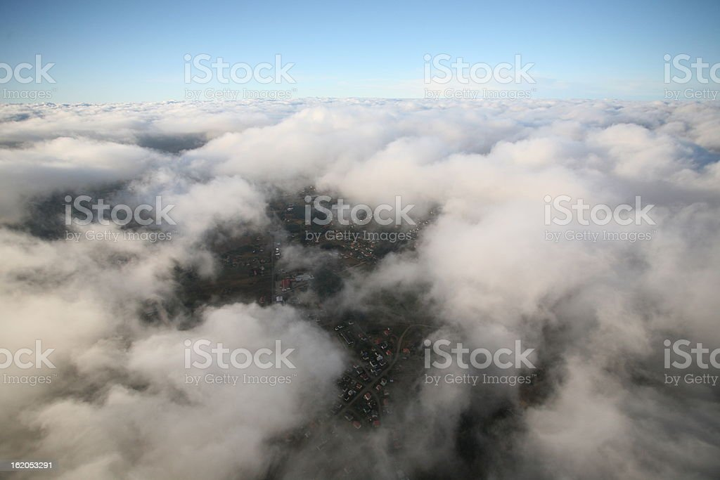 Dream above the puffy clouds royalty-free stock photo