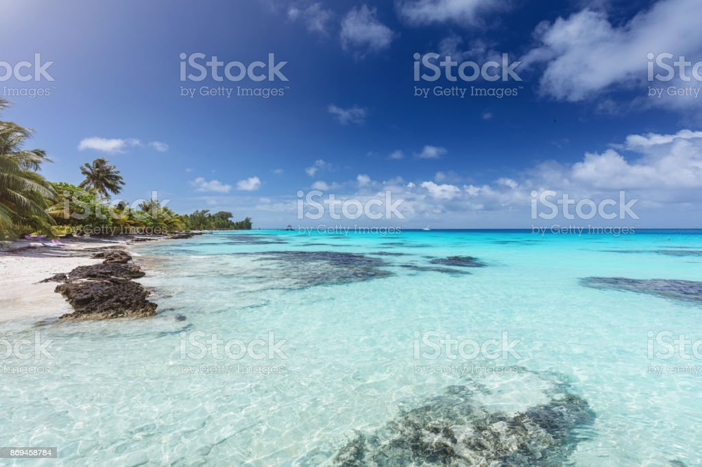 Traumstrand Fakarava Atoll Französisch-Polynesien – Foto