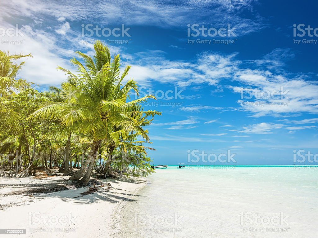 Dream Beach for Perfect Summer Vacations royalty-free stock photo