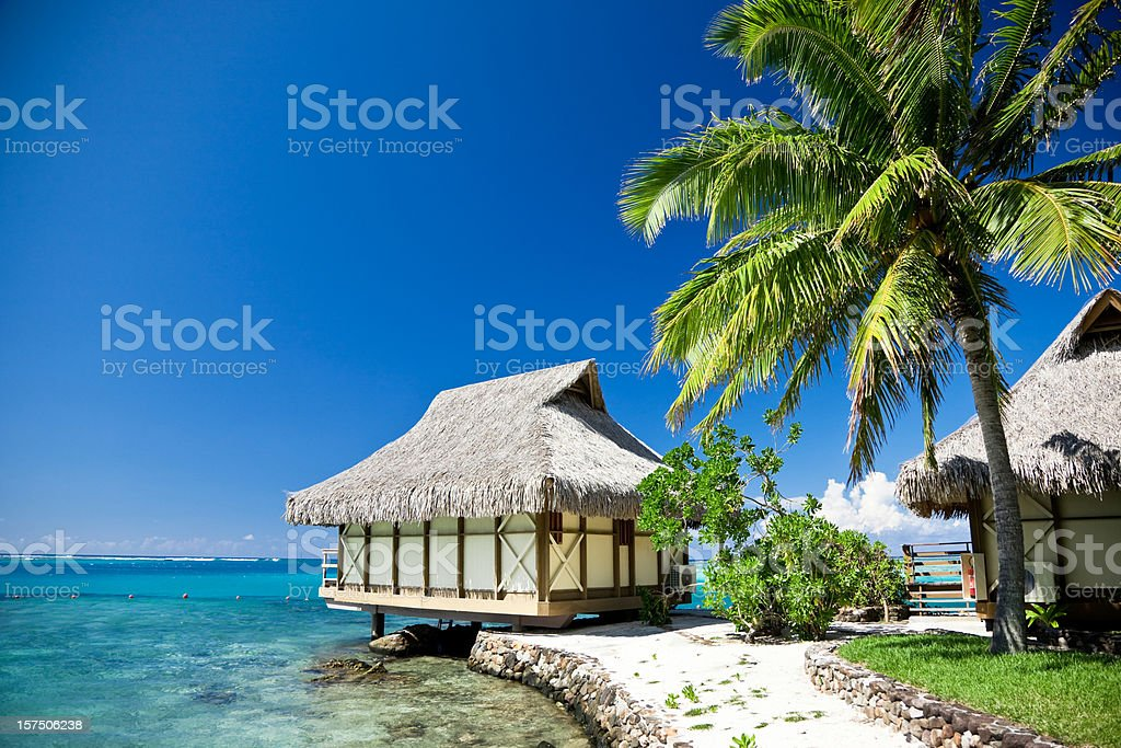 Dream Beach Moorea Island Tourist Resort stock photo
