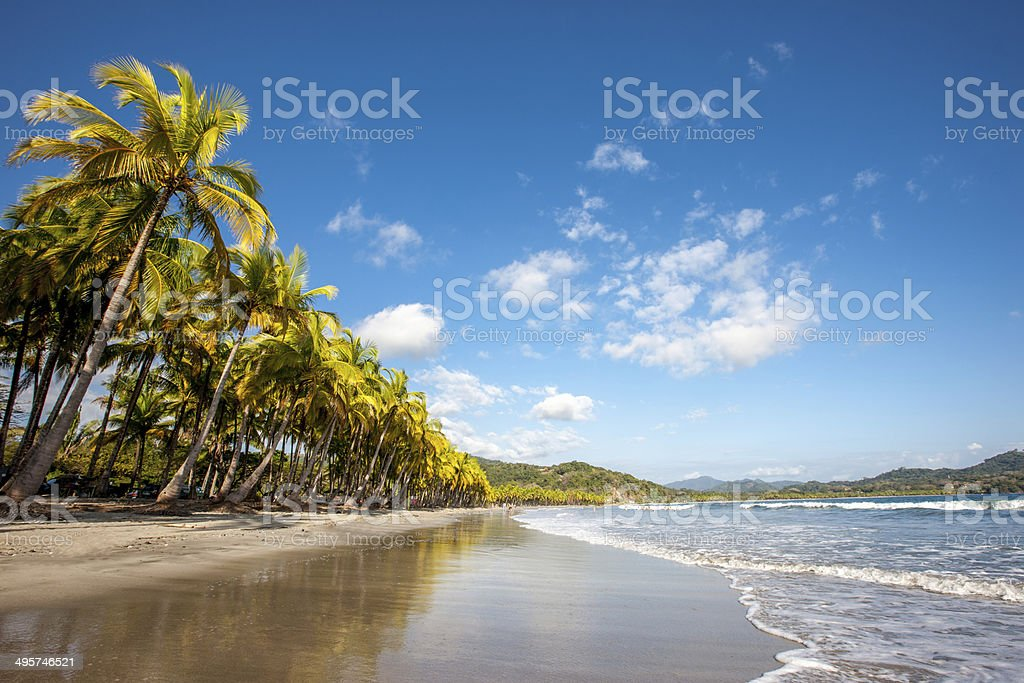 Dream Beach Nicoya Costa Rica stock photo