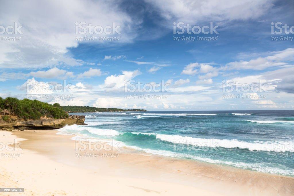 Dream Beach on Lembongan island, Bali, Indonesia stock photo