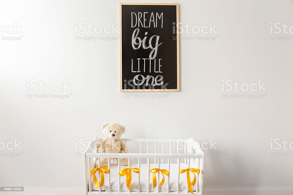 Dream big, our little one stock photo
