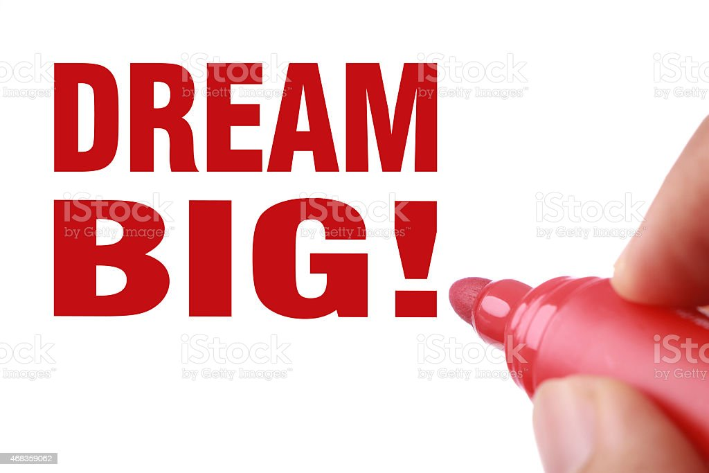Dream big royalty-free stock photo