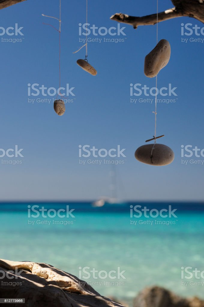 Dream Catcher by the ocean stock photo