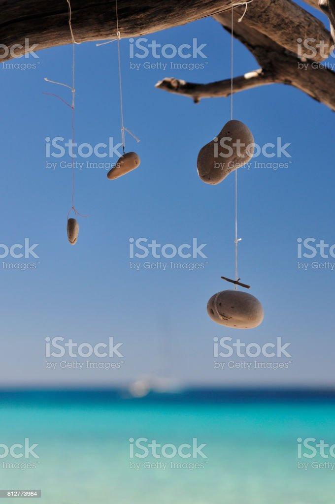Dream Catcher by the sea stock photo