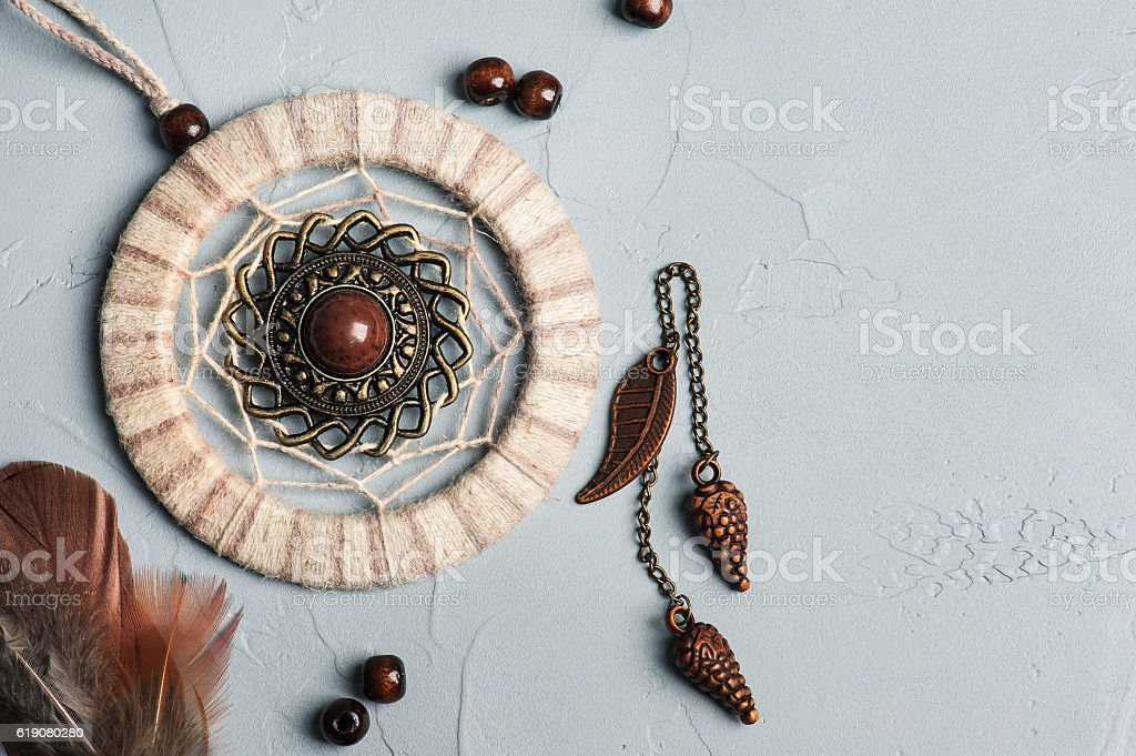 Dream catcher feathers and beads - Photo