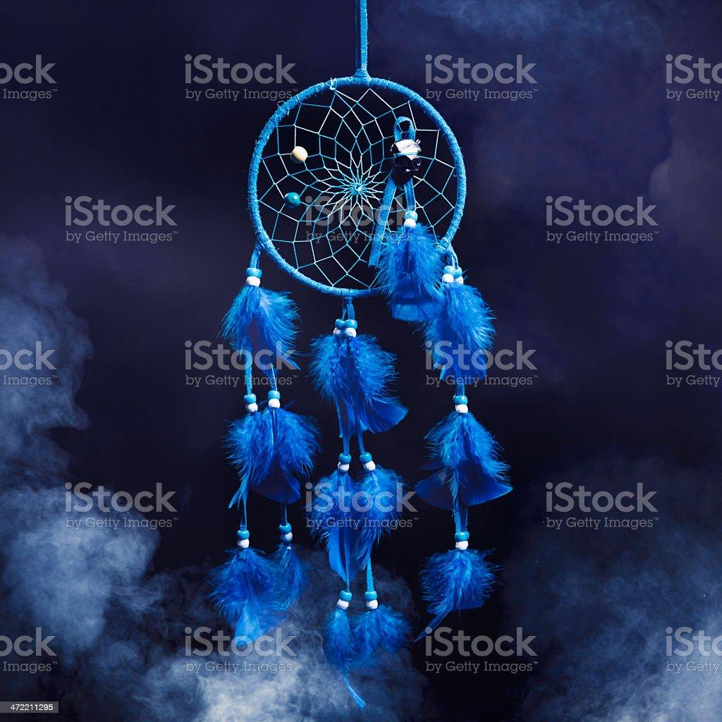 Dream catcher on a dark background stock photo