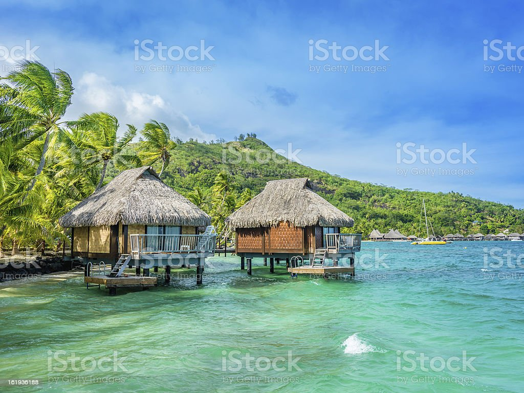 Dream Holiday Luxury Resort, Tahiti stock photo