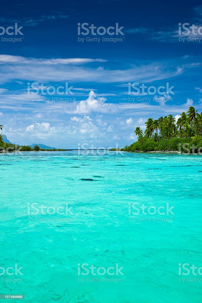 Dream Holiday South Pacific stock photo