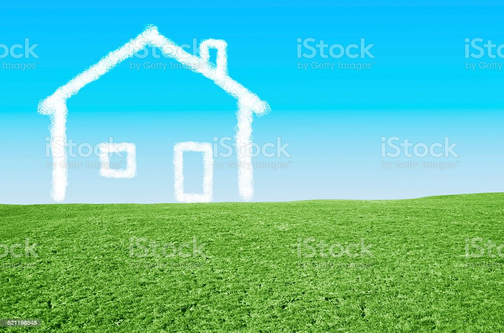 Dream house stock photo