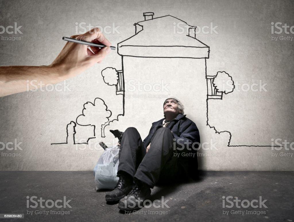 """Dream house""  - Lizenzfrei Armut Stock-Foto"