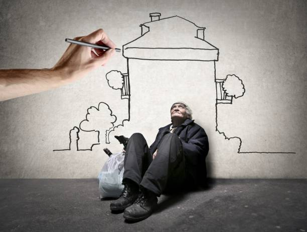 dream house - homelessness stock photos and pictures