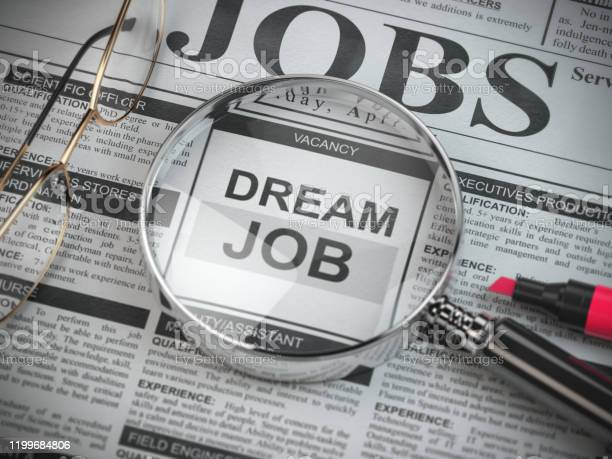 Dream job concept job search and employment magnified glass with job picture id1199684806?b=1&k=6&m=1199684806&s=612x612&h=uewmprwlsp3f8nuektgpmte6jkp8o5ilcz6ovbz1um4=