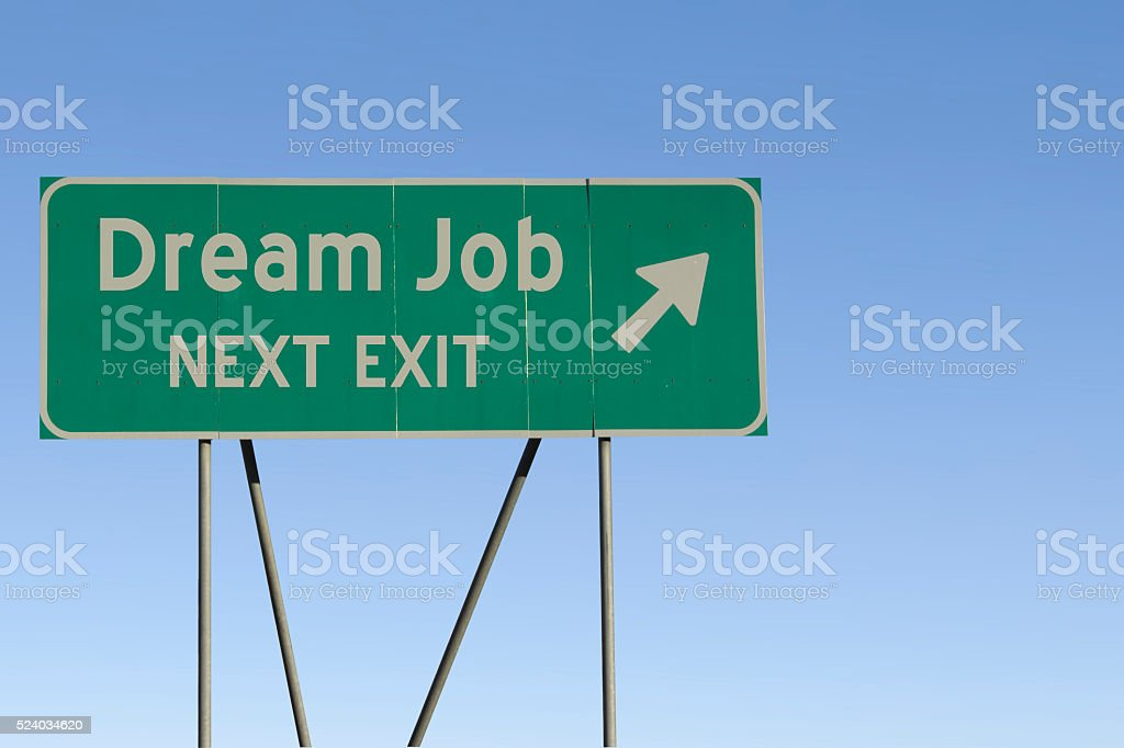 dream job - Next Exit Road stock photo