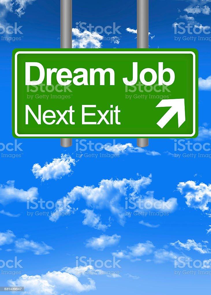 Dream job road sign concept stock photo