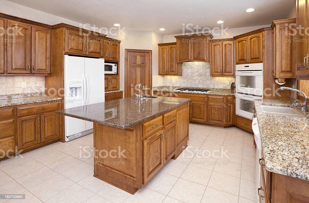 Sogno cucina con ripiani in granito mobili in legno illuminazione