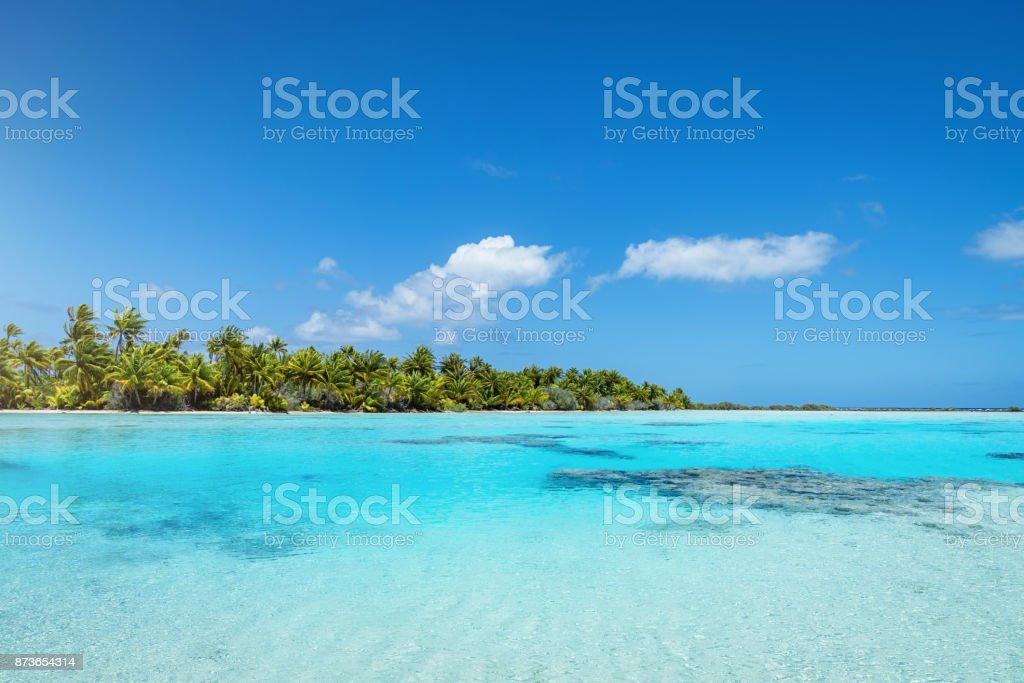 Traum-Lagune Fakarava Teahatea Französisch-Polynesien Atoll – Foto