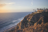La Jolla, San Diego - House on Cliff at Sunset - Vacation, Southern California, Travel, Beautiful