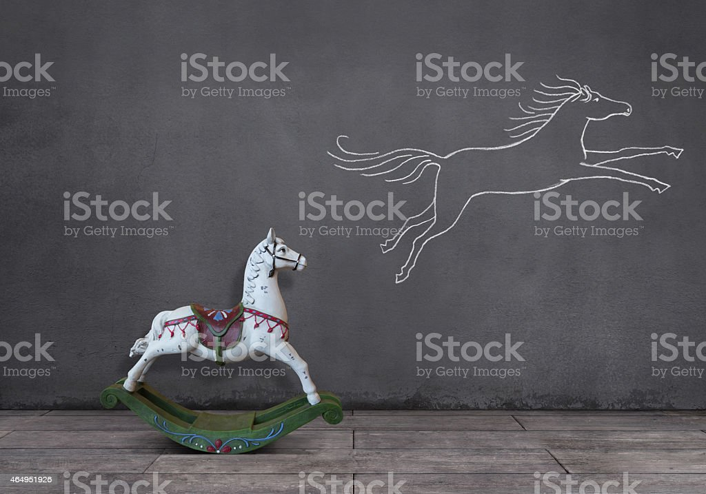 Dream of Rocking Horse royalty-free stock photo