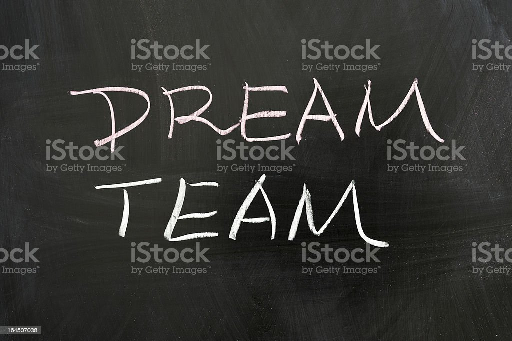Dream team stock photo