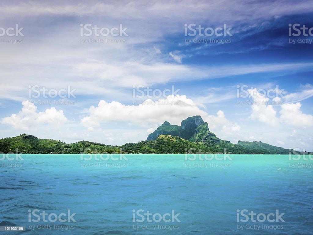 Dream Vacation Island Bora-Bora stock photo