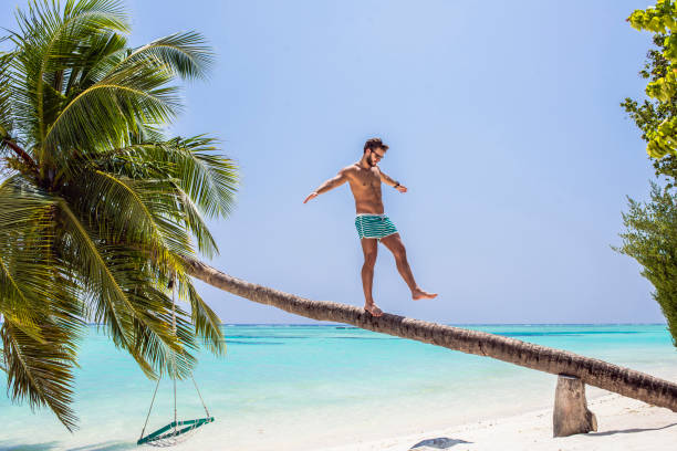 dream vacation on exotic islands stock photo