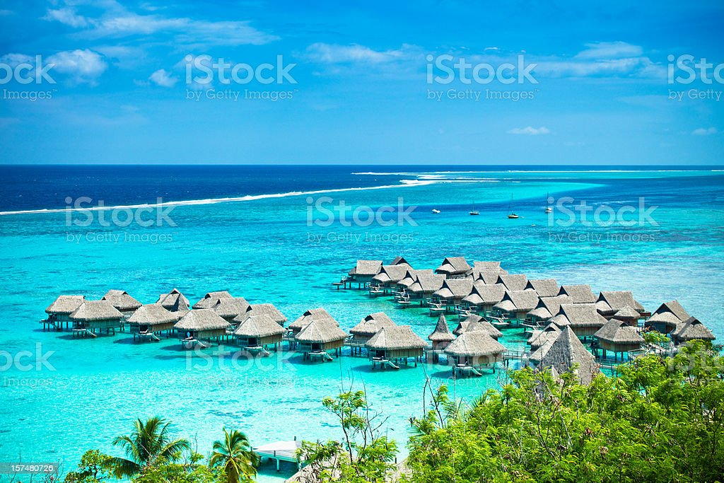 Dream Vacations Luxury Hotel Resort stock photo