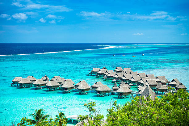 Dream Vacations Luxury Hotel Resort  south pacific ocean stock pictures, royalty-free photos & images