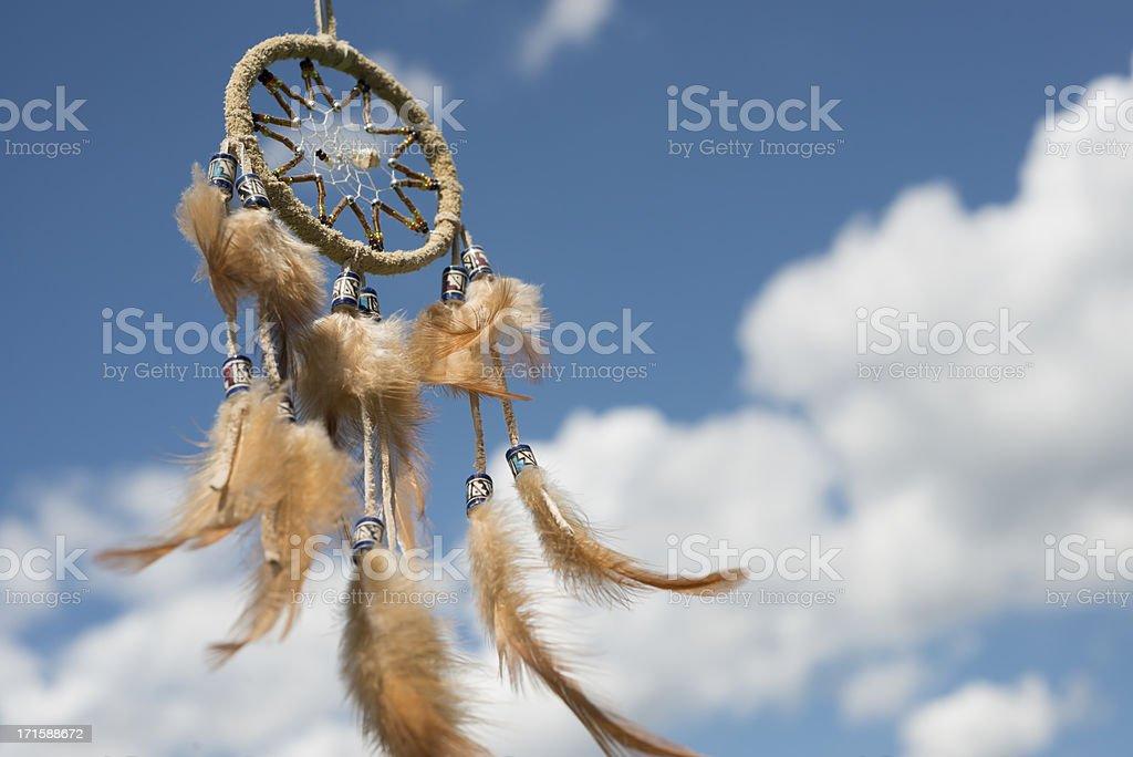 Dreamcatcher against great cloudscape stock photo
